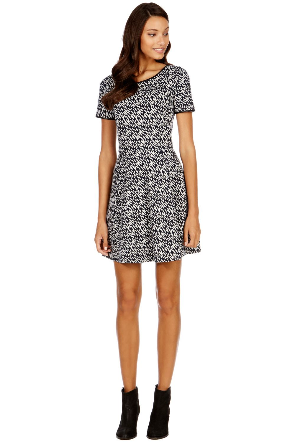Brushstroke jacquard dress