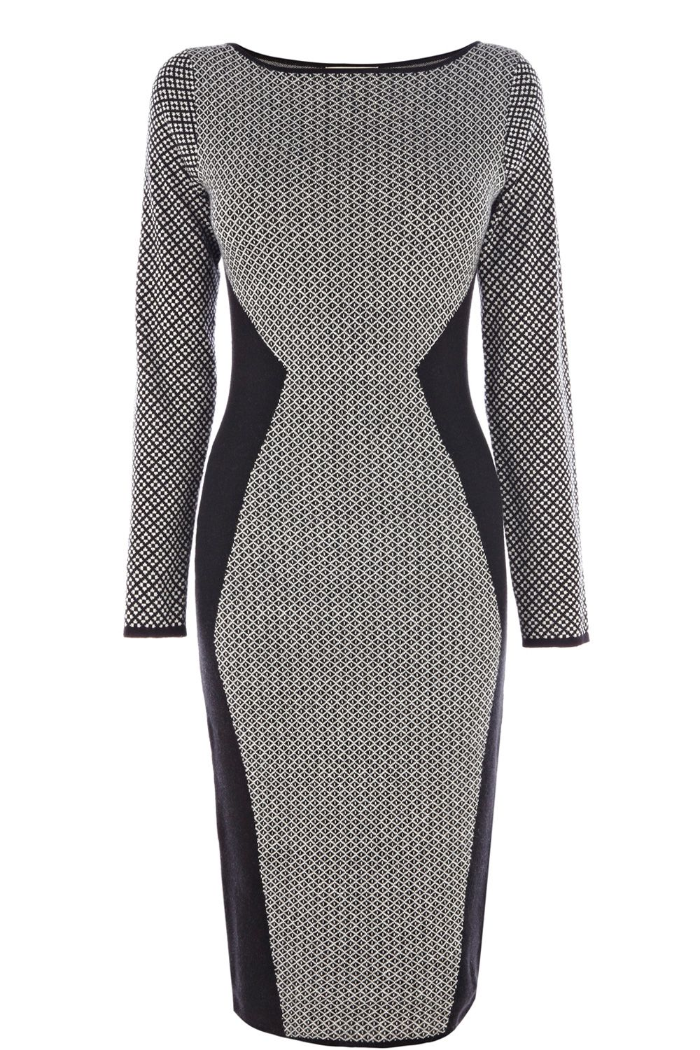 Diamond jaquard bodycon dress