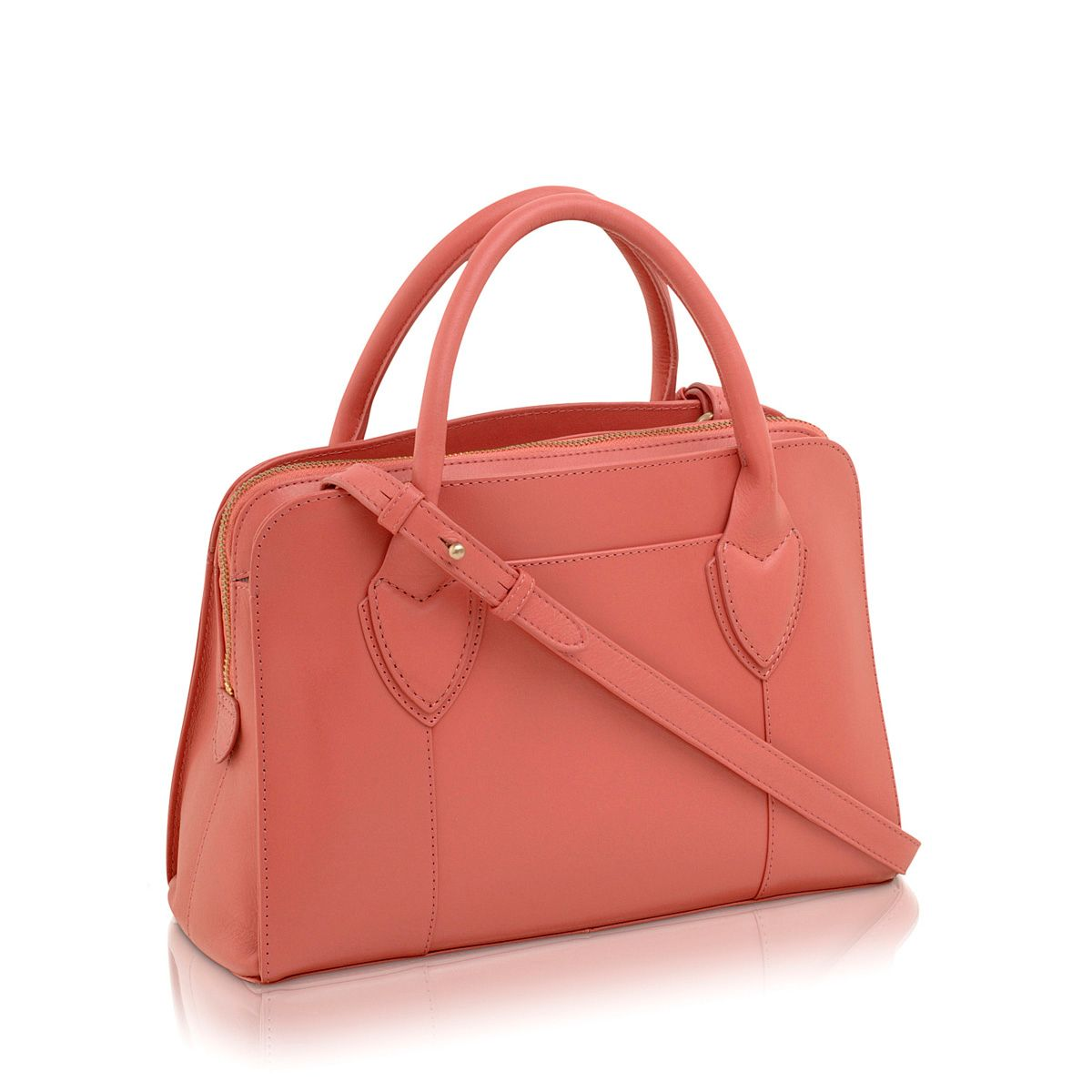 Aldgate coral crossbody leather medium tote bag