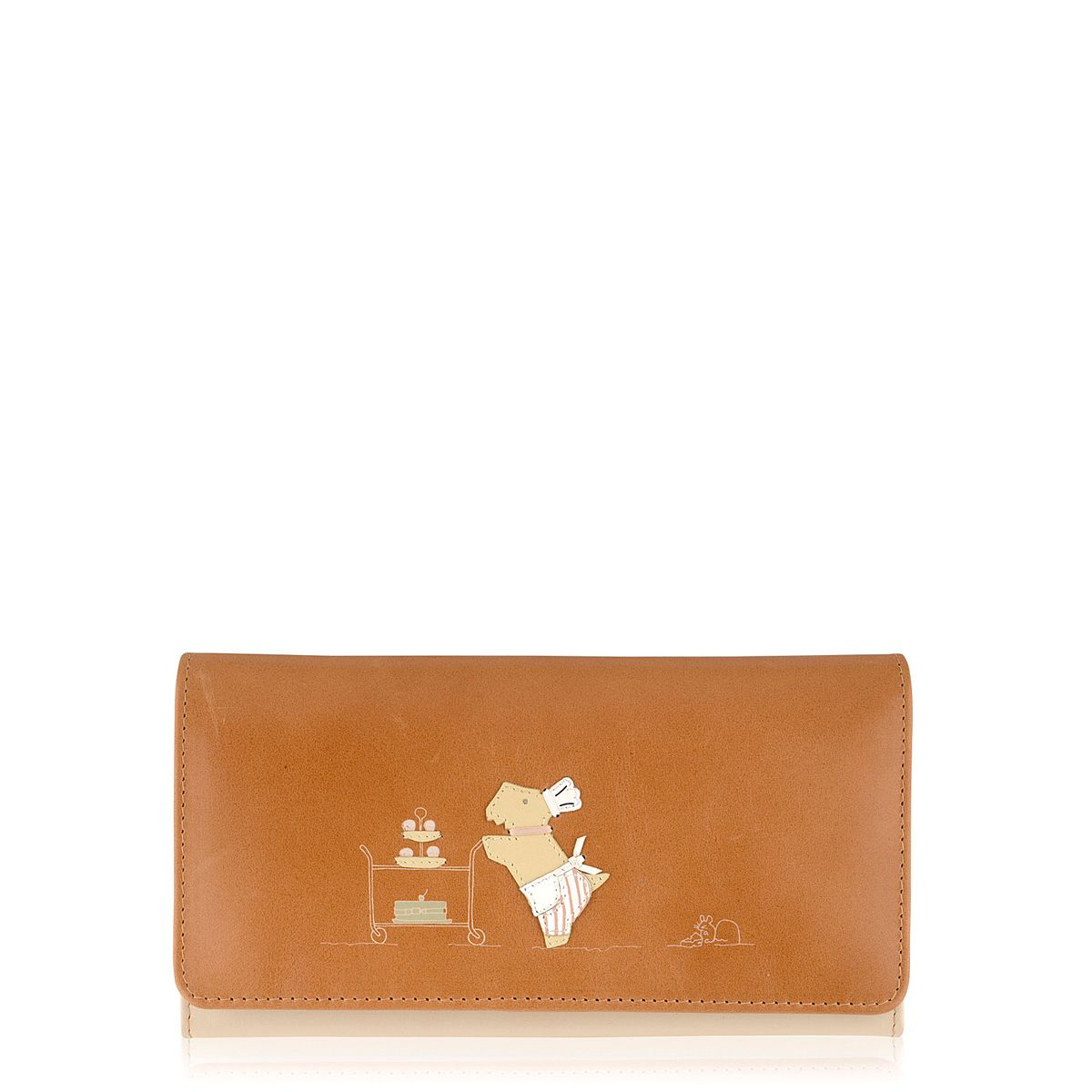 Patisserie Raderlie large tan flapover purse