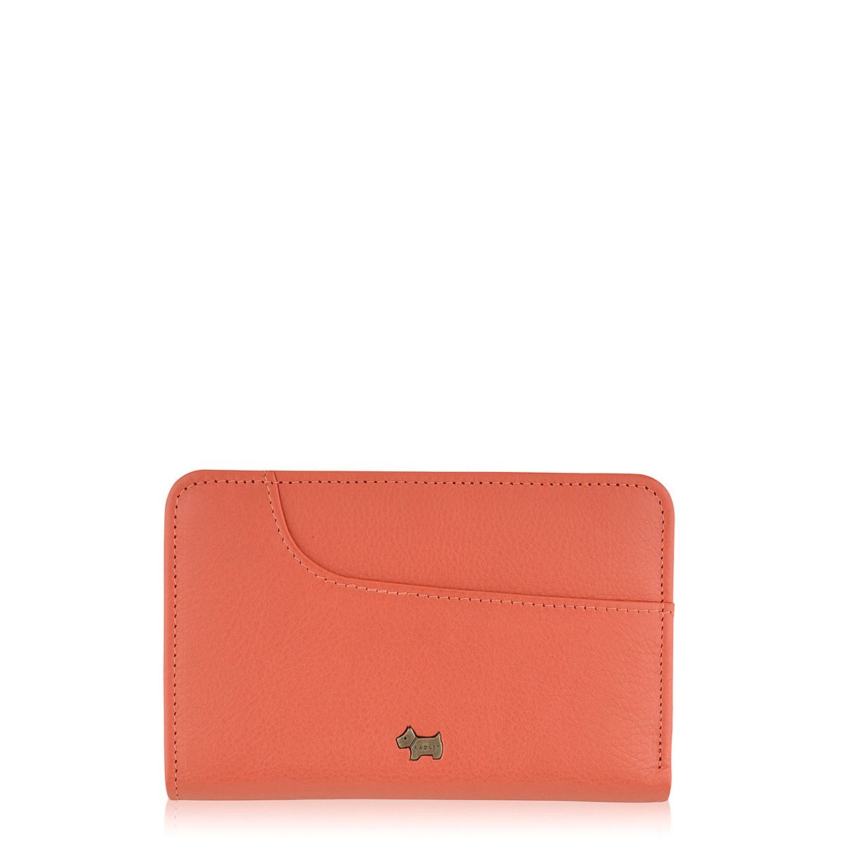 Pocket bag coral medium zip around purse