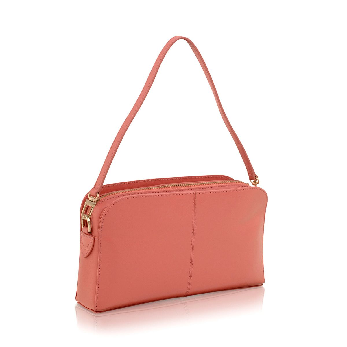 Aldgate coral mini leather shoulder bag