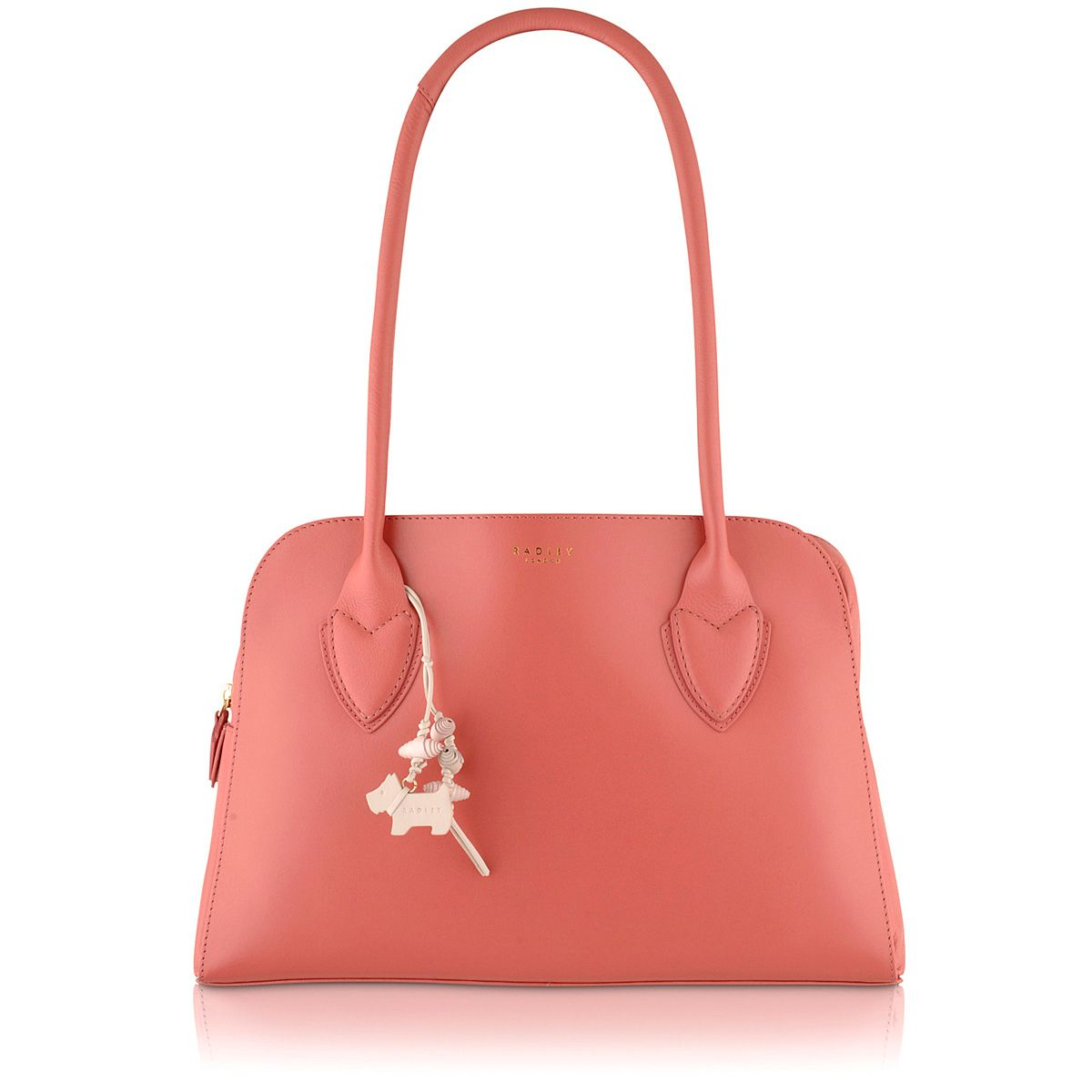 Aldgate coral pink medium shoulder bag