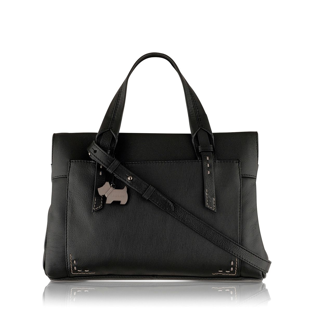 Barnsley black medium crossbody leather tote bag