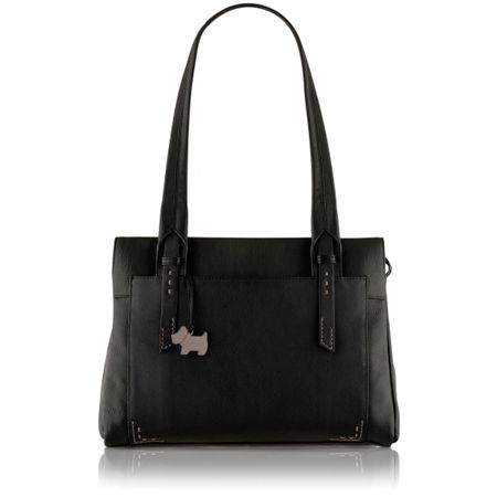 Radley Barnsley black medium leather shoulder bag