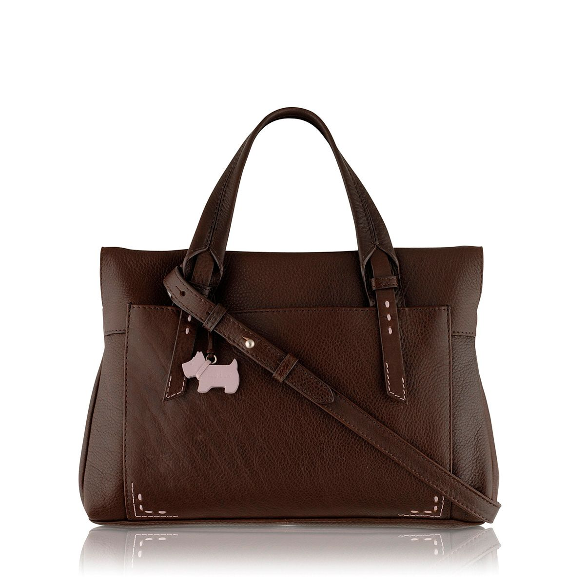 Barnsley medium crossbody brown leather tote bag