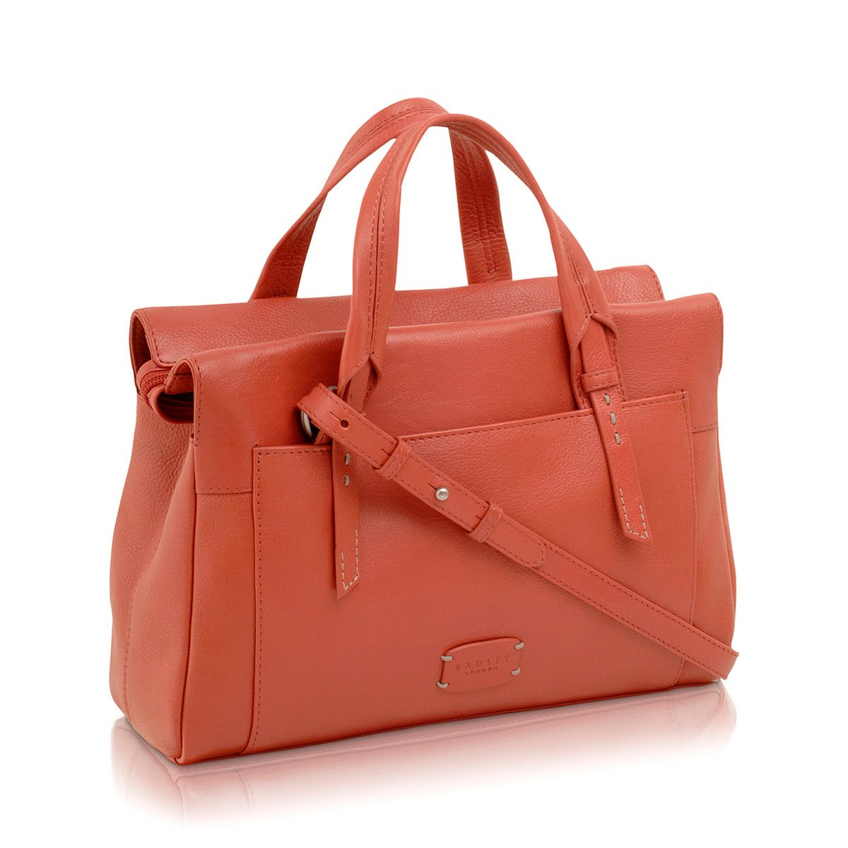 Barnsley coral crossbody medium leather tote bag