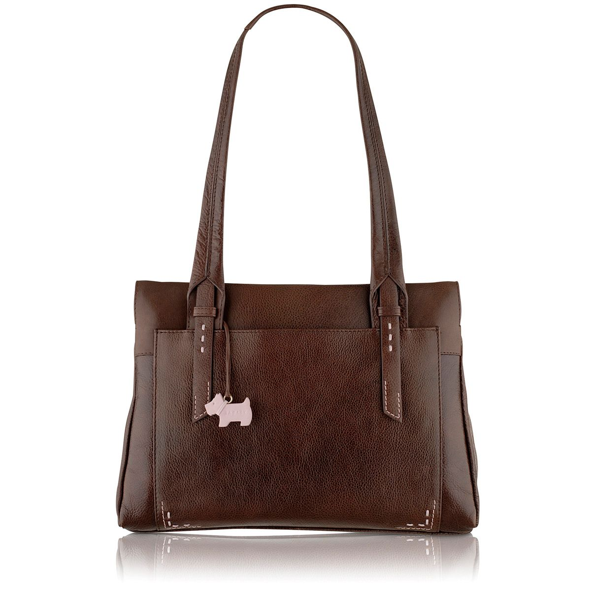 Barnsley brown medium leather shoulder bag