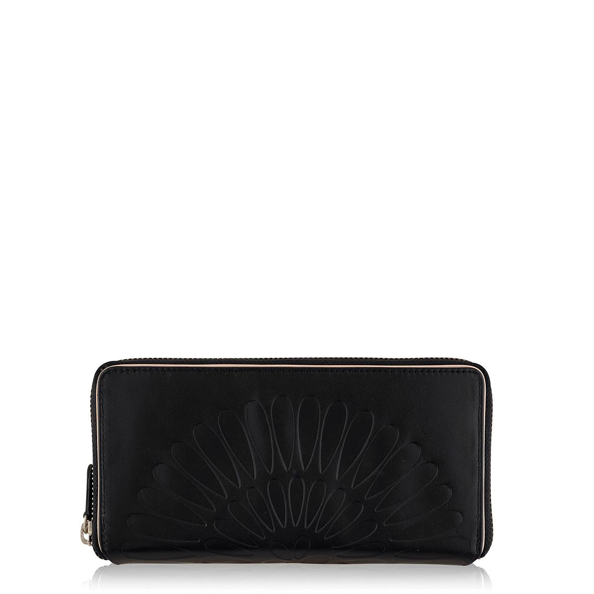 Finch black large zip around purse