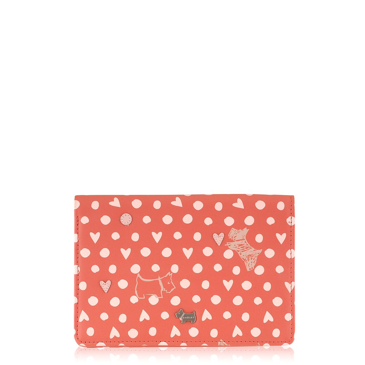 Dog and spot medium coral zip around purse