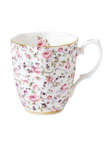 Royal Albert Rose Confetti vintage mug