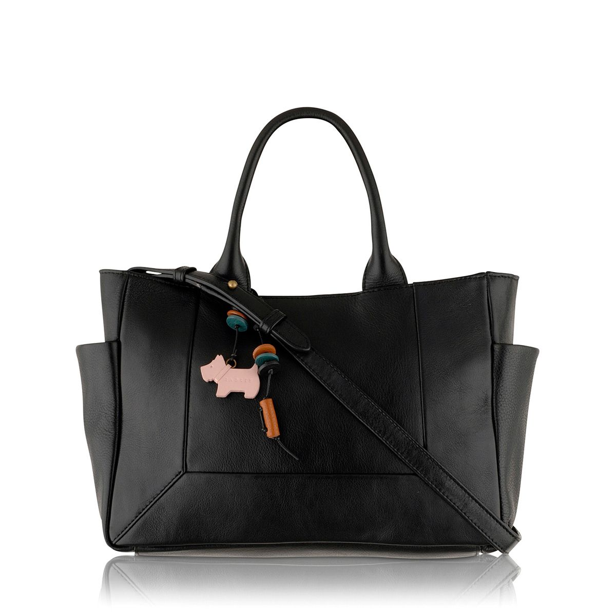 Border medium black crossbody tote bag