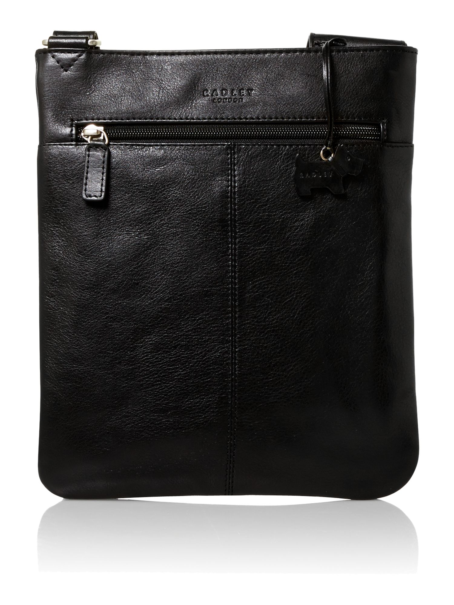 Finch black medium crossbody leather bag