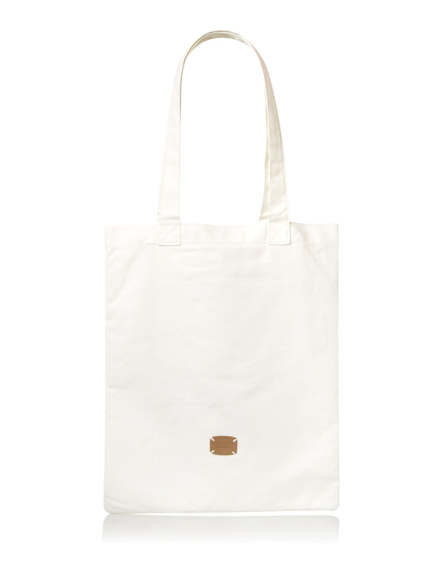 Hibbert neutral canvas tote bag