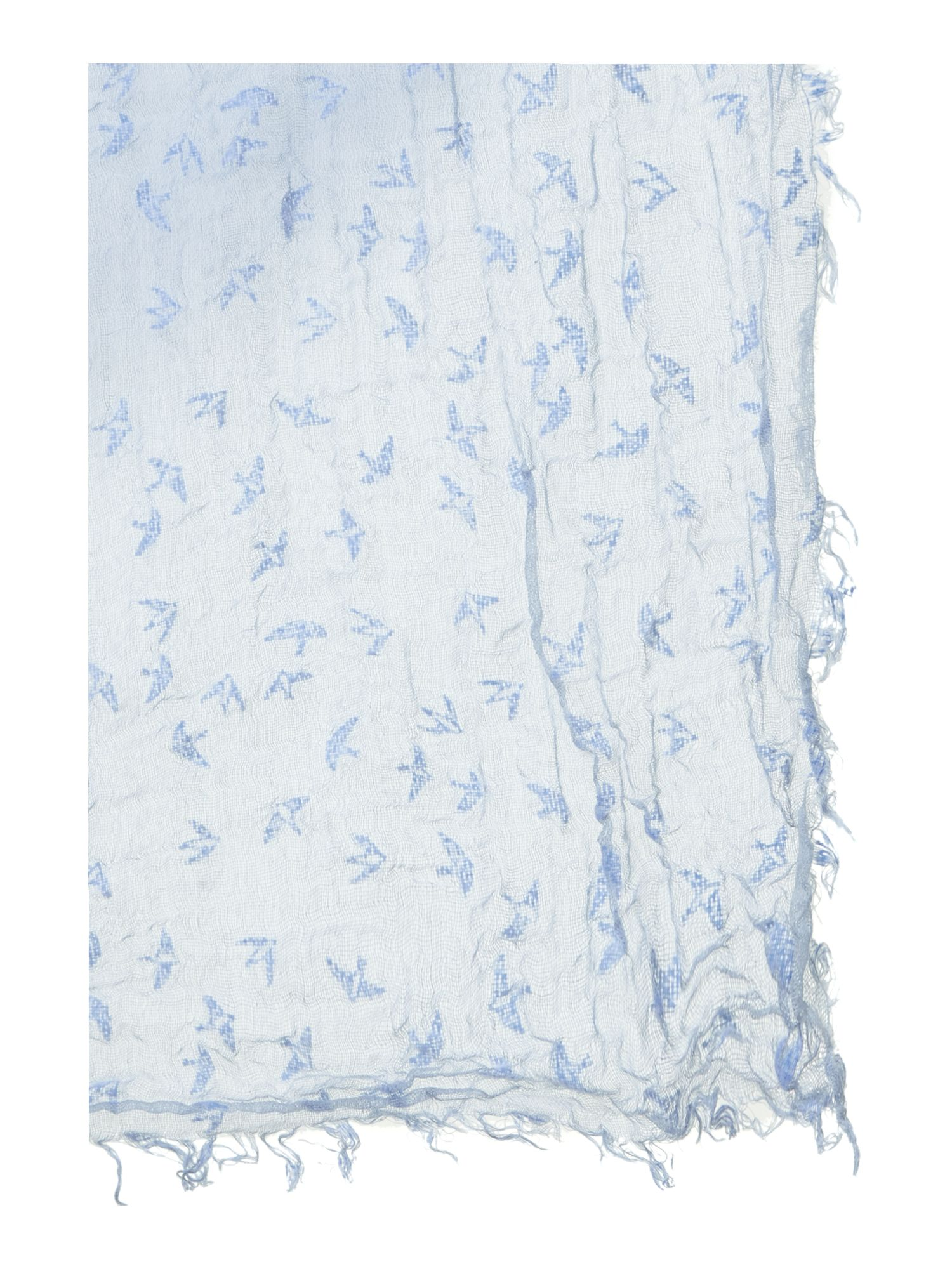 Flocked swallow scarf