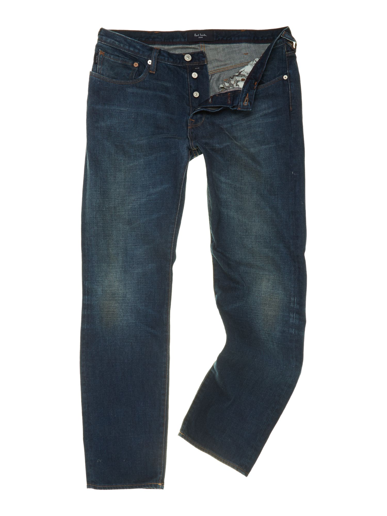 Classic fit broken twill antique wash jean