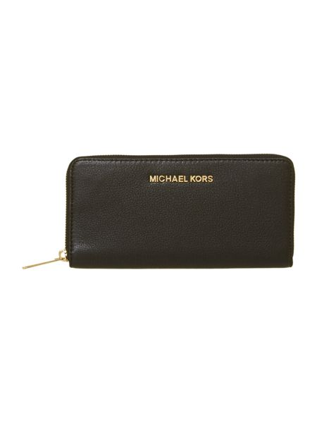 Michael Kors Bedford large black zip around purse
