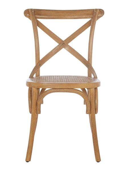 Shabby Chic Bailey natural dining chair pair