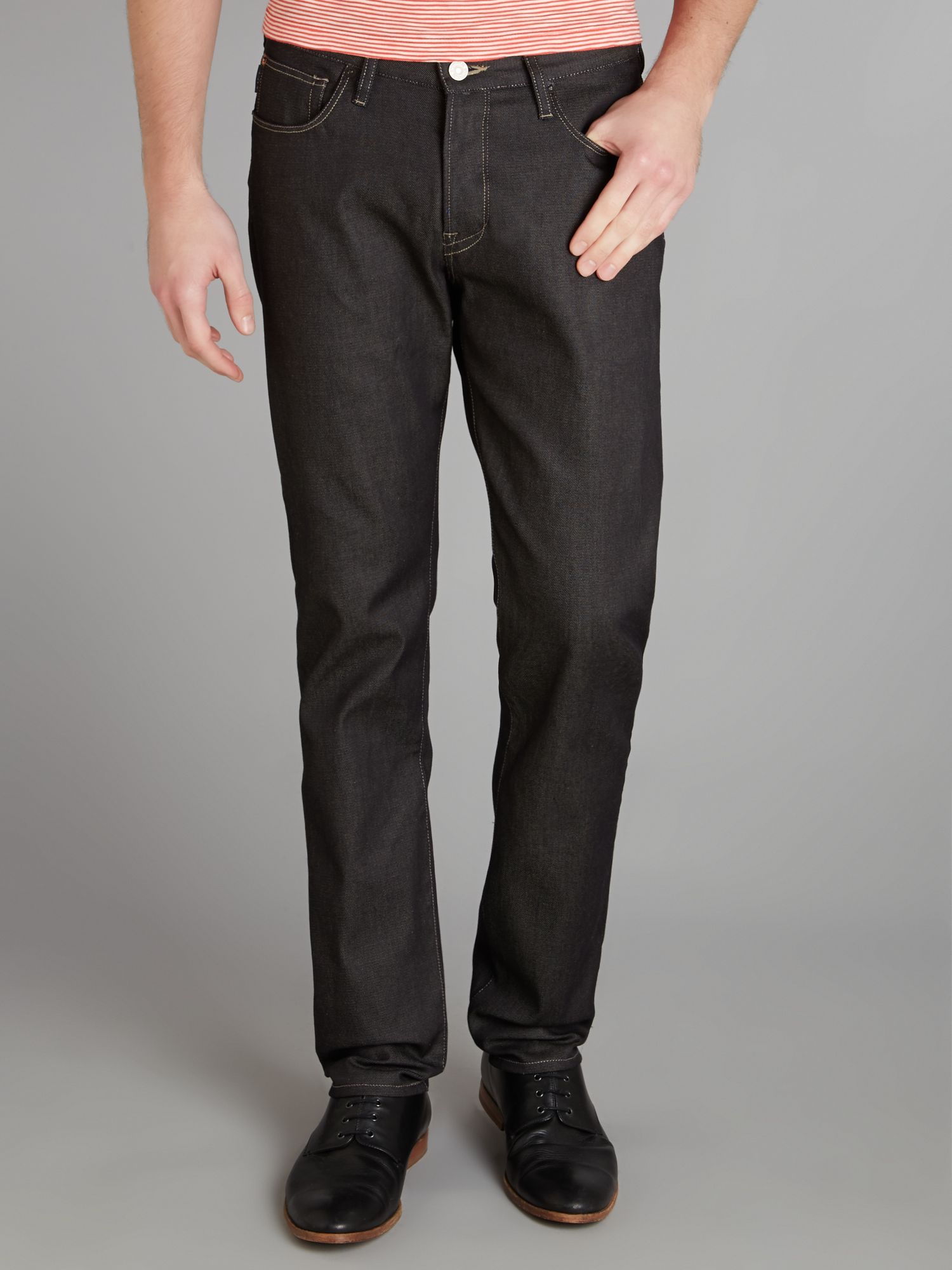 Dark indigo tapered jean