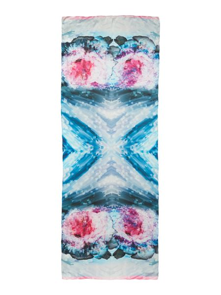 Ted Baker Cubist floral print long silk scarf