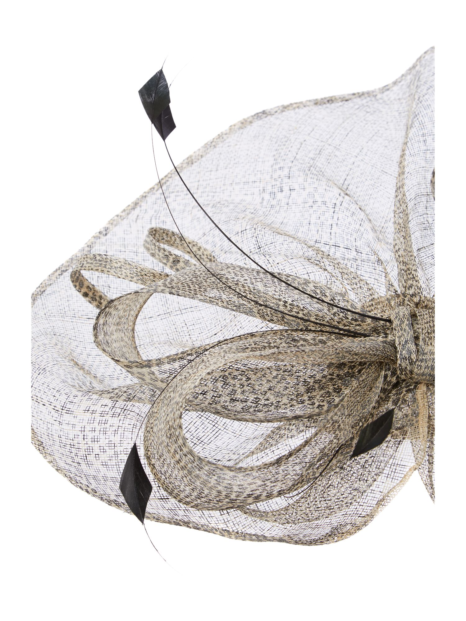 Balmoral oversized printed headpiece
