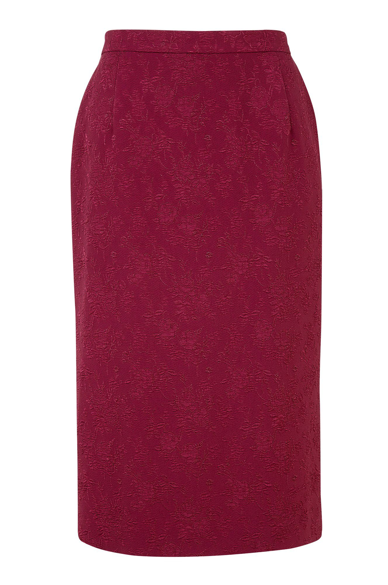 Cloque pencil skirt