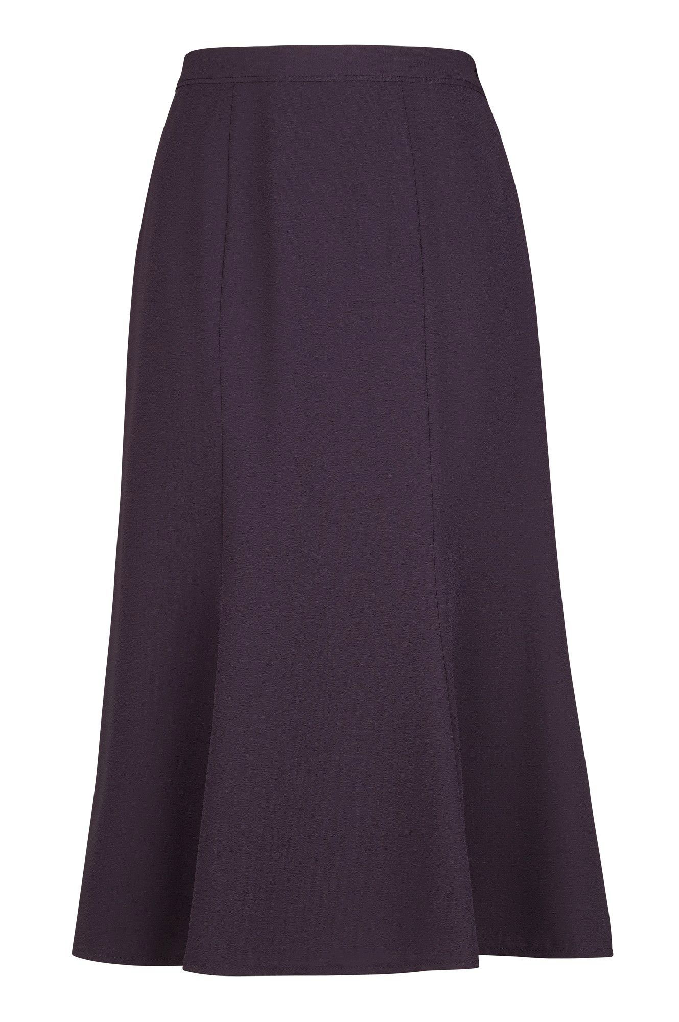Fit & flare fine crepe skirt