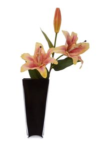 Linea Black square vase