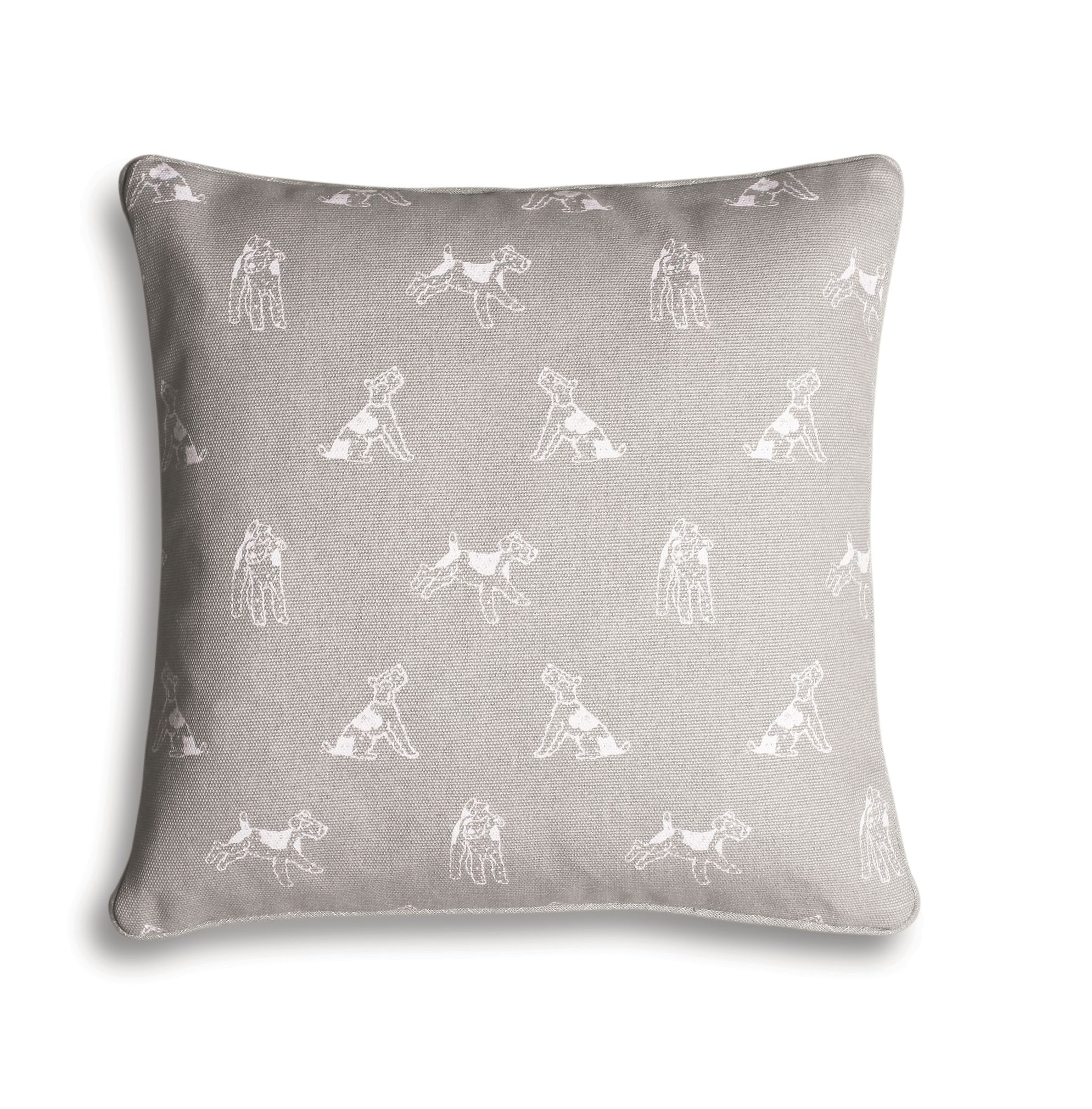 Grey Bertie print cushion