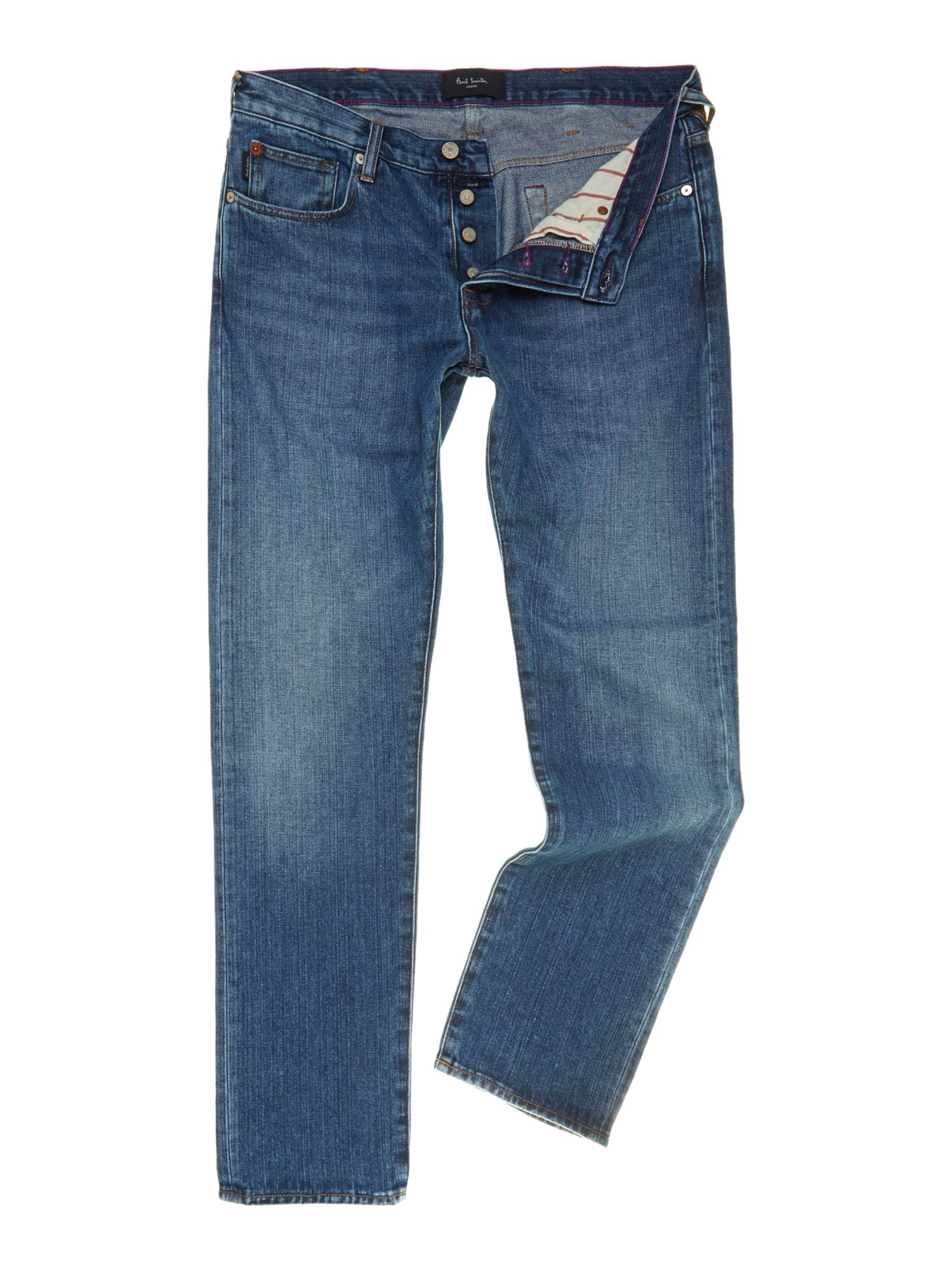 Light wash tapered jean