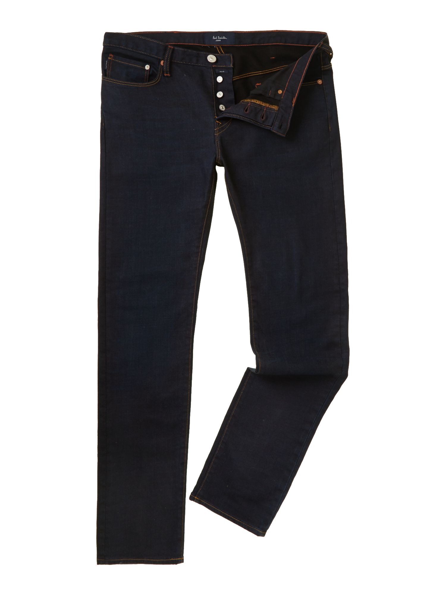 Slim stretch rinse wash jean