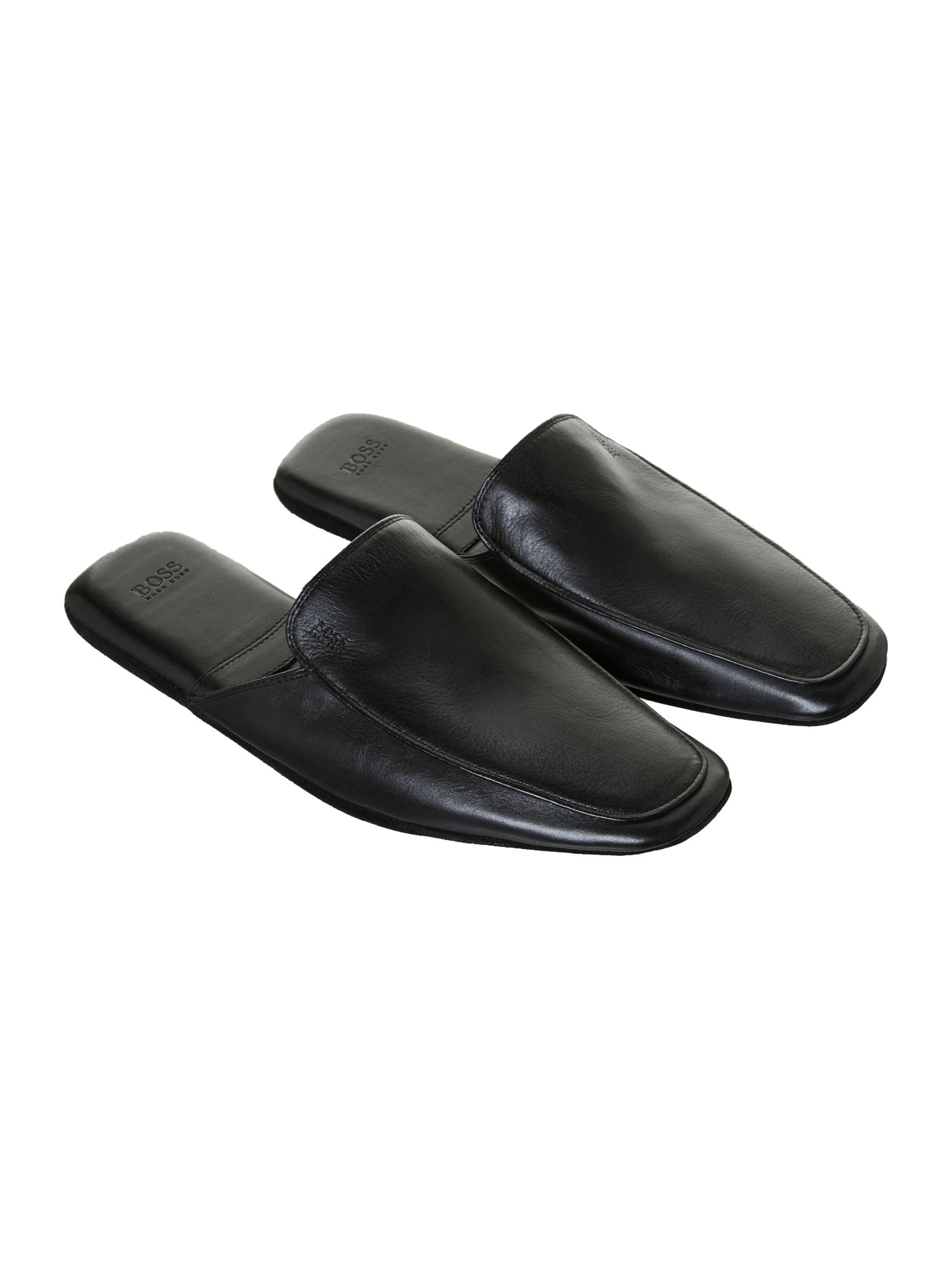 Leather mule slipper
