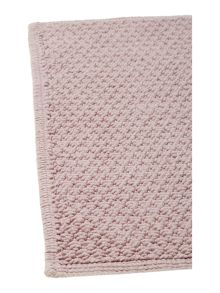 Linea Cotton bobble reversible bathmat blush