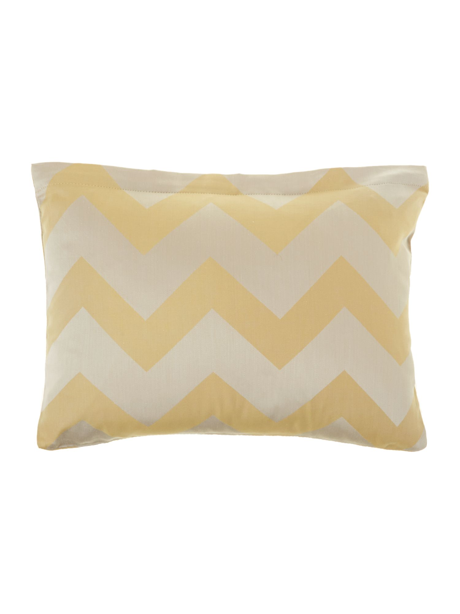 Citrine chevron cushion