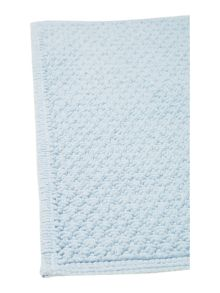 Cotton bobble reversible bathmat sky blue