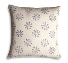 Natural flower print cushion