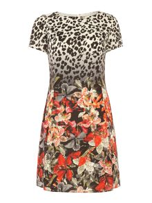 Tropical leopard flirty dress