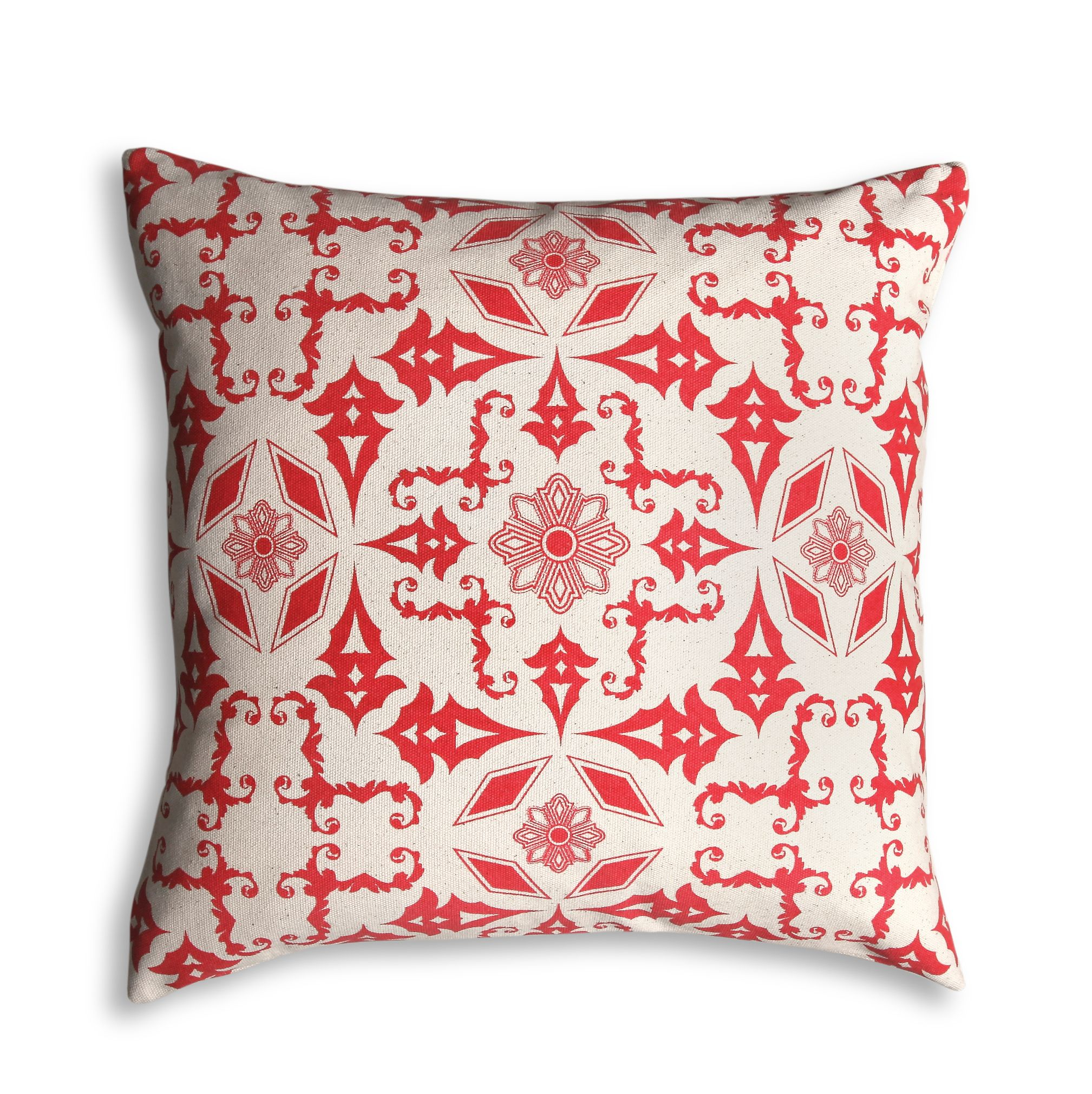 Natural tile print cushion