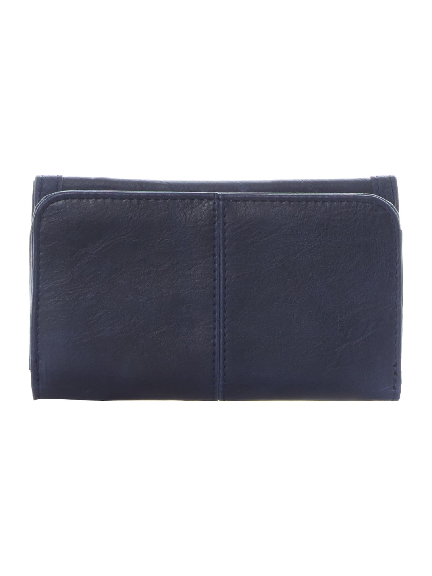 Blue small flapover purse