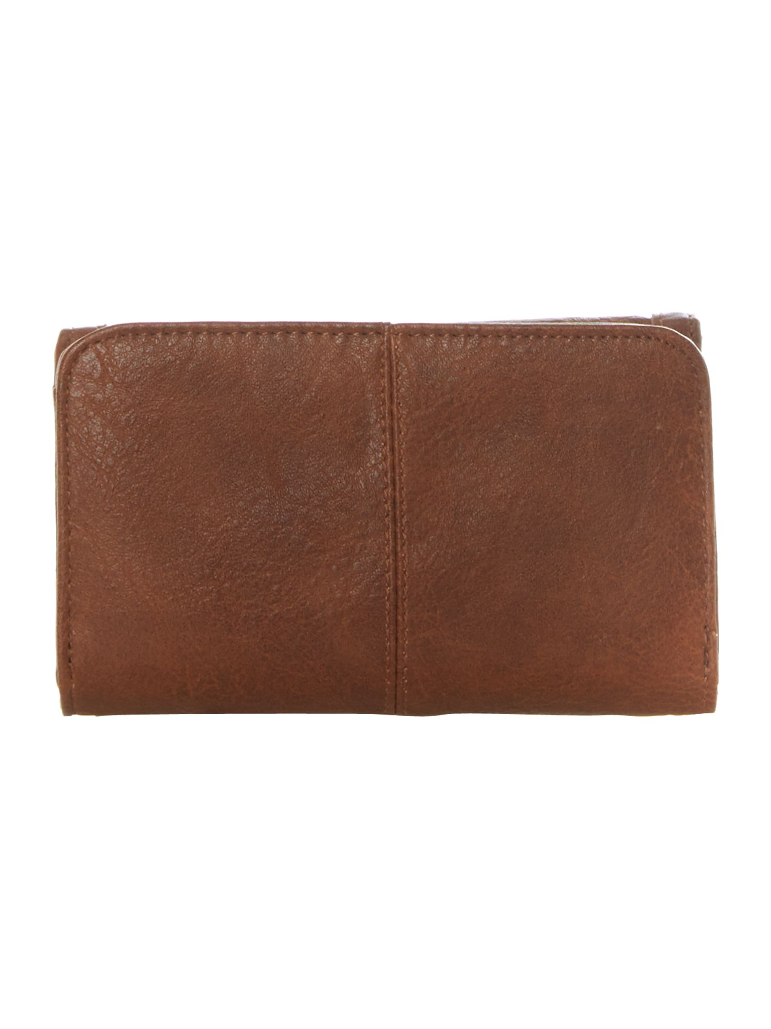 Tan small flapover purse
