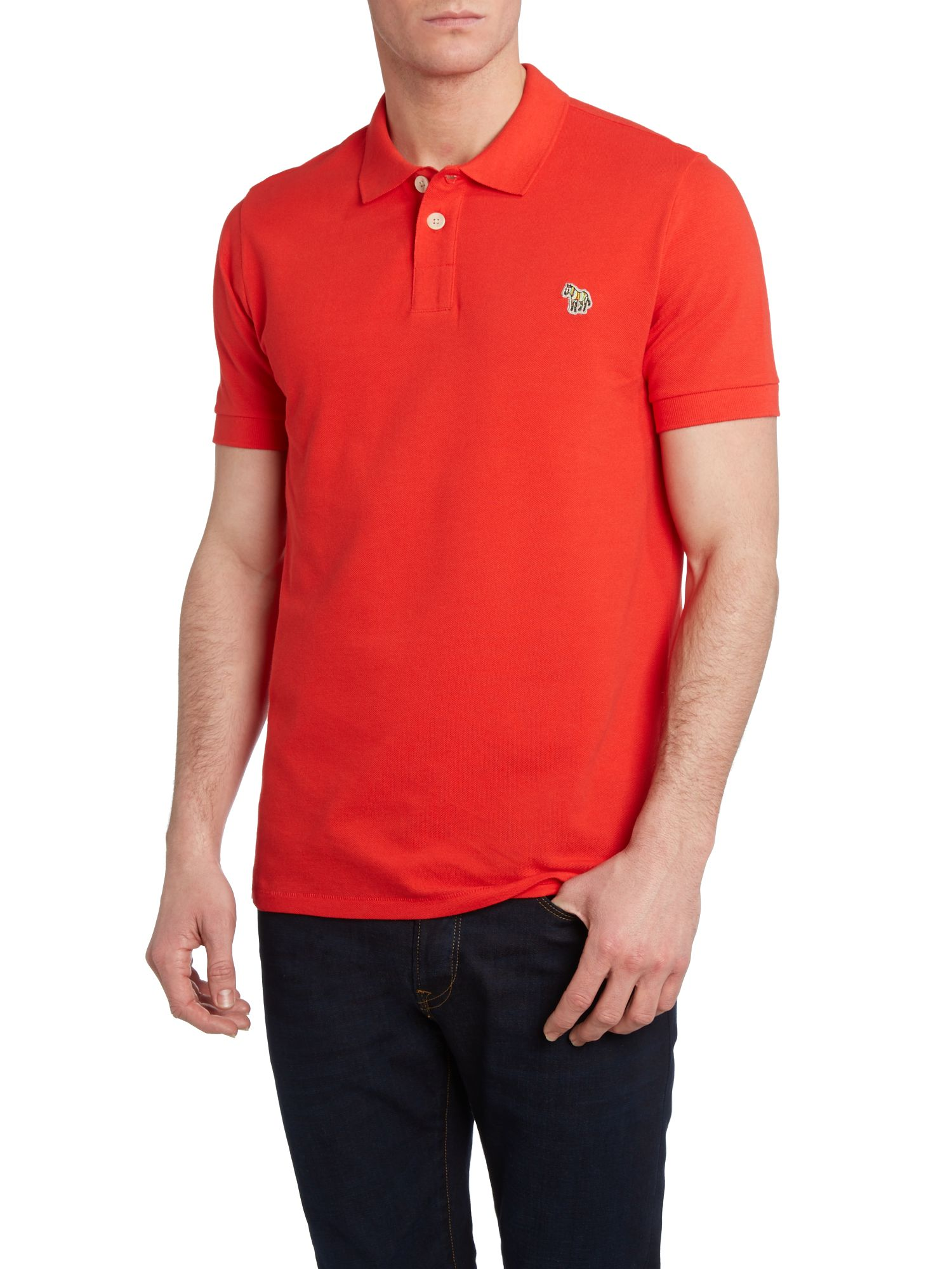 Regular fit zebra polo shirt