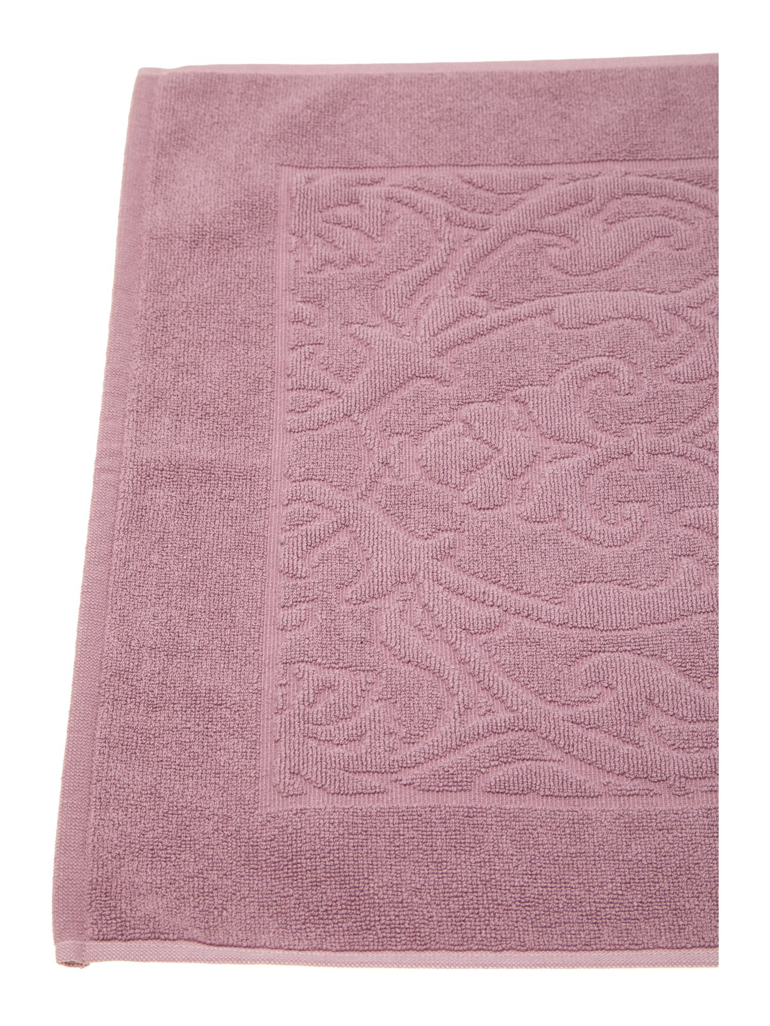 Heavy jacquard bath mat in orchid