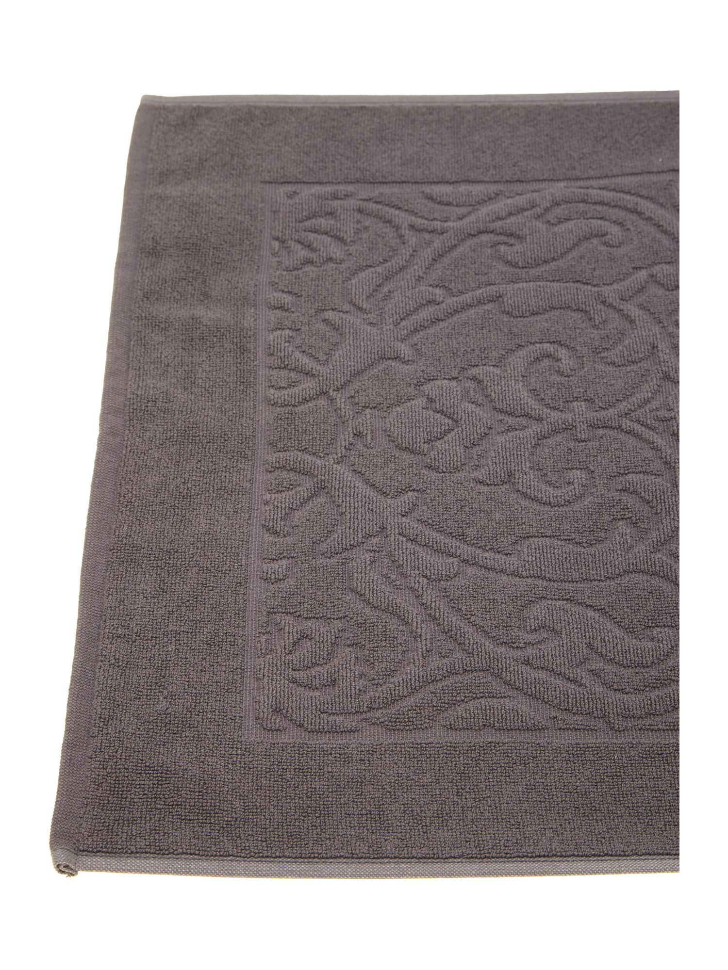 Heavy jacquard bath mat in charcoal