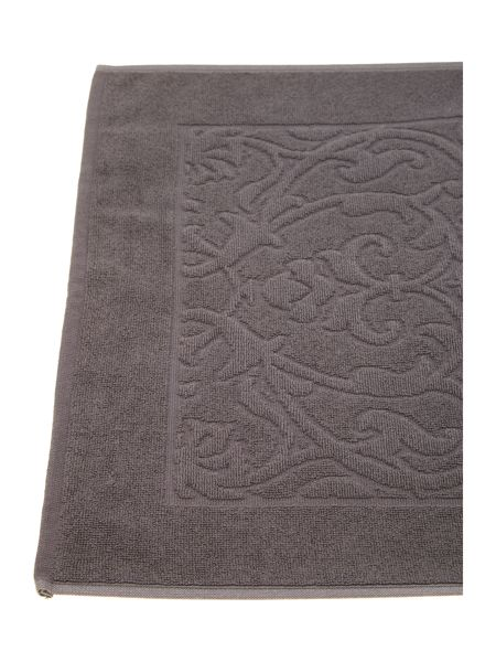 Pied a Terre Heavy jacquard bath mat in charcoal