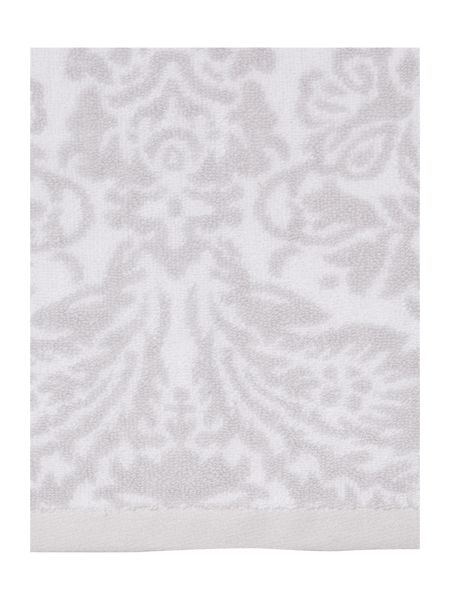 Shabby Chic Jacquard Hand Towels in Grey (Set of 2)
