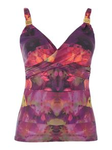 Ornate orchid goddess tankini