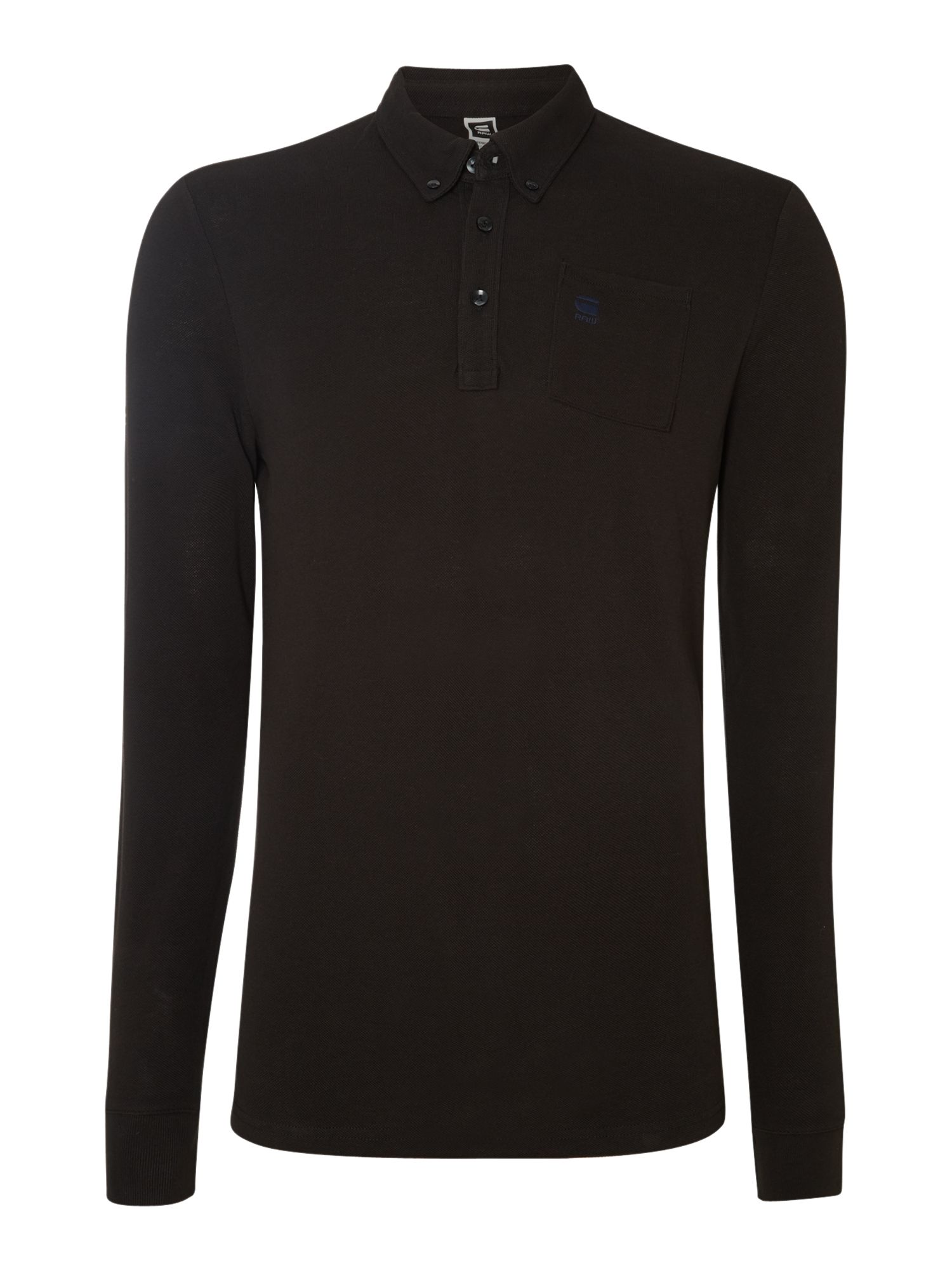 Long sleeve one pocket polo shirt