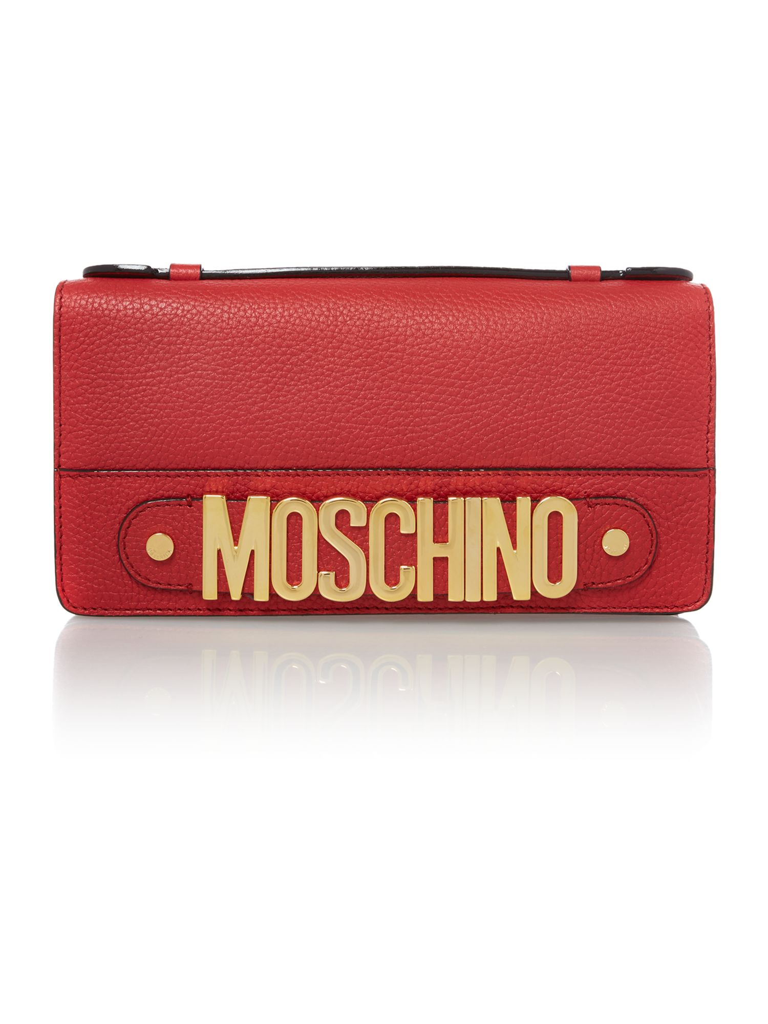 Red small chain clutch bag