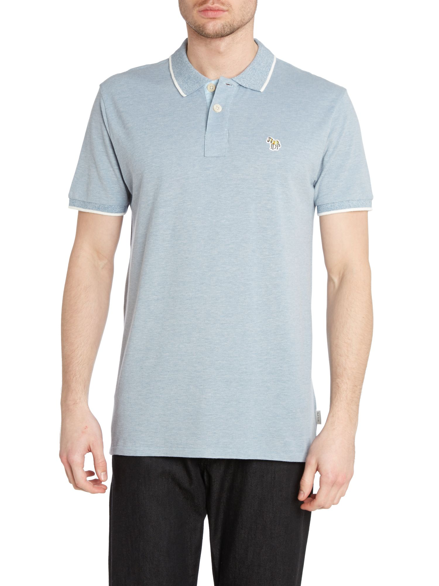 Regular fit zebra tipped polo shirt