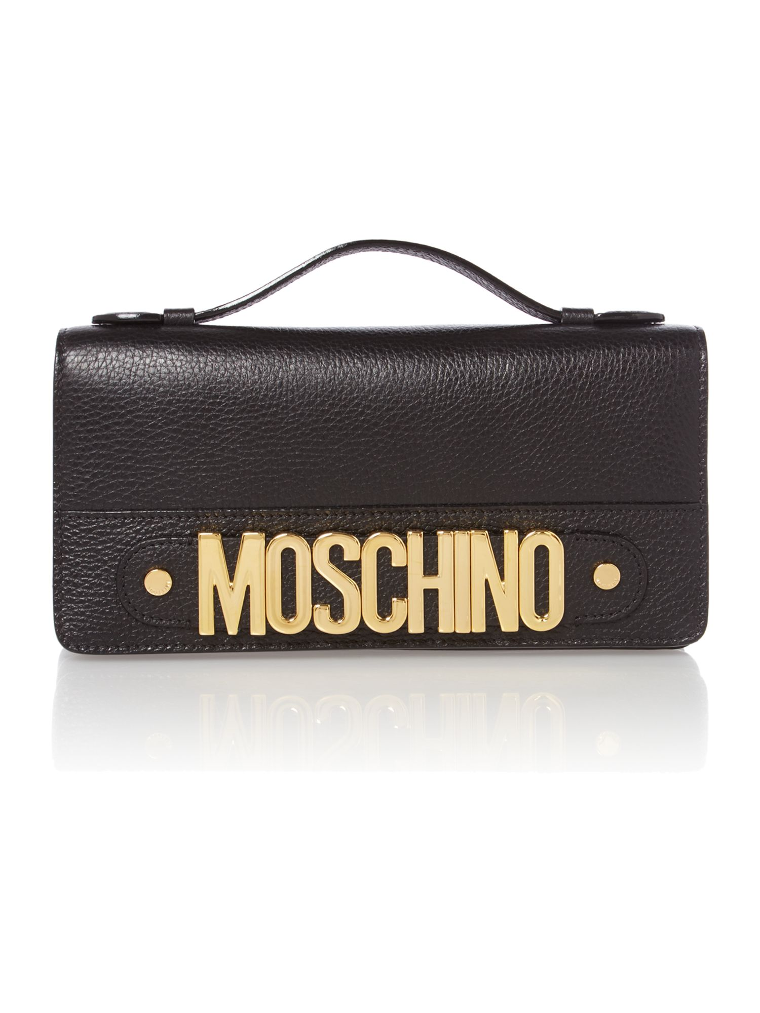 Black small chain clutch bag